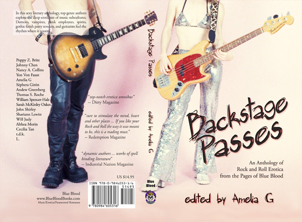 backstage passes an anthology of rock and roll erotica from the pages of blue blood