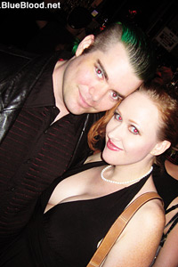 Forrest Black and Julie Simone at Audition Party