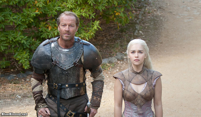 game of thrones jorah mormount danaerys