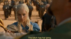 the bitch has her army game of thrones unsullied daenyris
