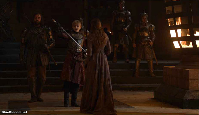 game of thrones sansa kisses joffrey sword