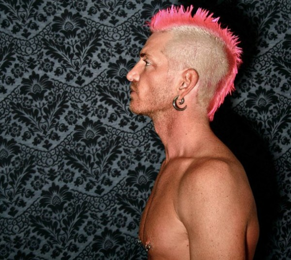 halycon pink blonde mohawk