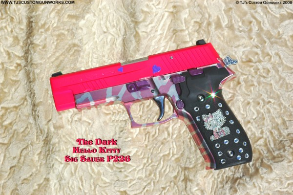 hello kitty sig sauer gun firearm p226