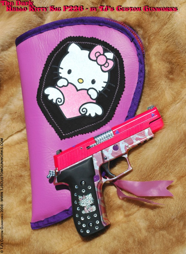 hello kitty sig sauer gun firearm p226 kit