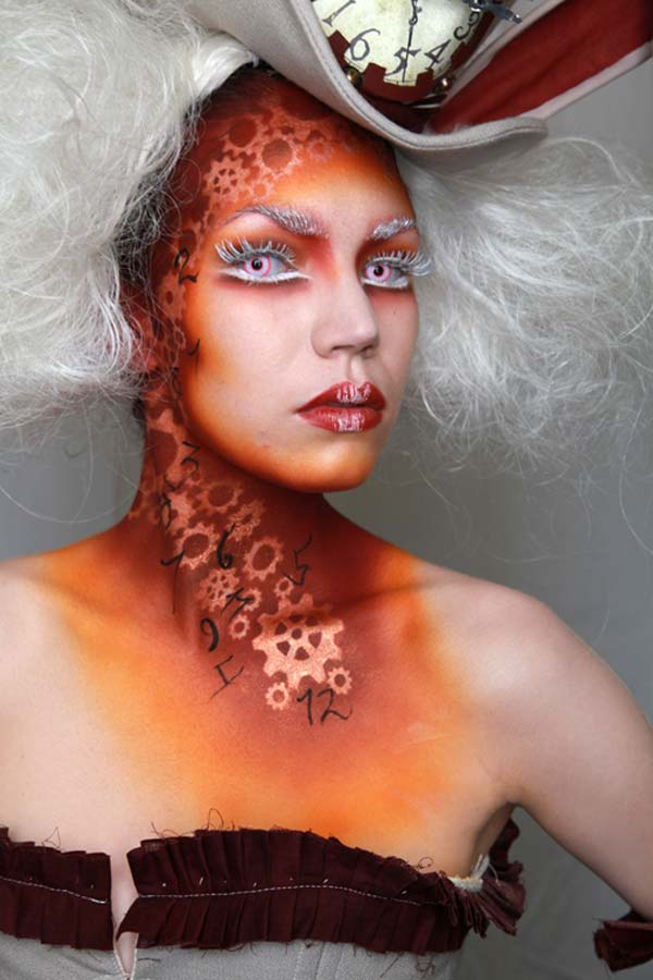 Tuesday Coren's first-place  beauty/fantasy make-up from the Alice in Wonderland-themed student  competition at the 2010 IMATS Los Angeles. Photo by Deverill Weekes.