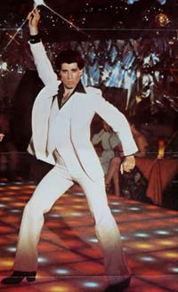John Travolta white suit
