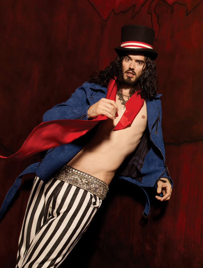 russell brand topless brand x