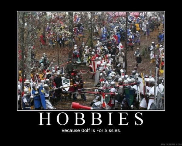 sca hobbies larp because golf is for sissies