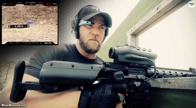 Google Glass + Heavy Firearms + iPad = Live Action Halo