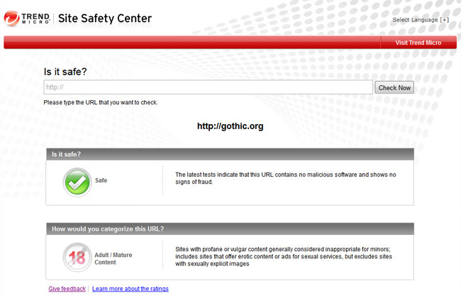 trend micro hates goths site safety center