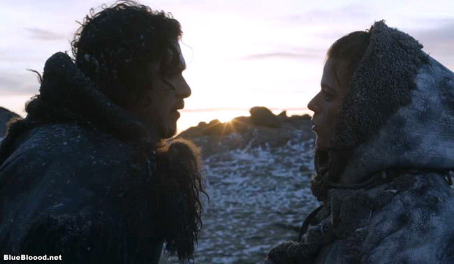 ygritte jon snow icy hot game of thrones