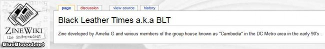 BLT on Zine Wiki