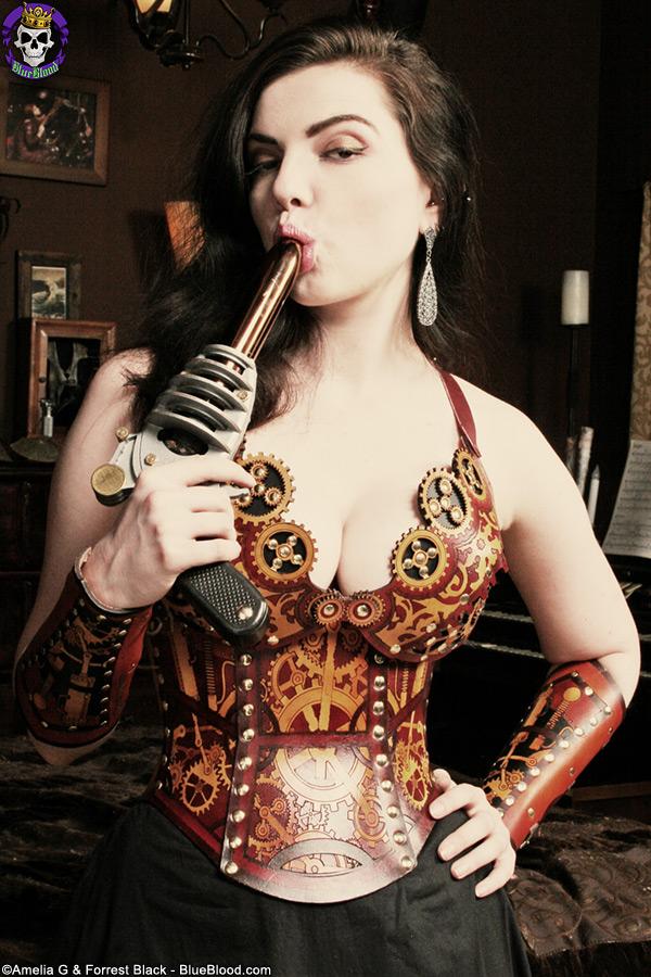 steampunk girls masterbate nude